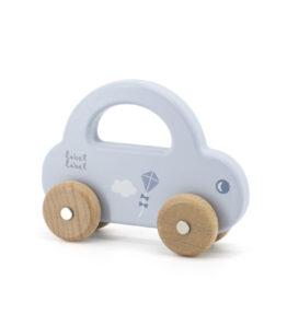 Kleine houten auto - blauw
