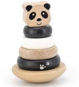 Stapelringen Panda Zwart-Wit