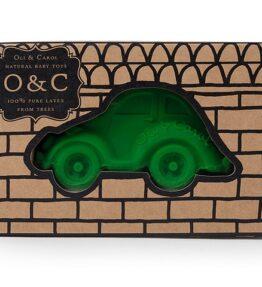 Bad speeltje auto (kever) groen - natuurlijk rubber