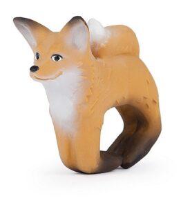 Bad en bijtspeeltje armband vos - natuurlijk rubber