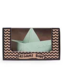 Bad speeltje boot mint - natuurlijk rubber