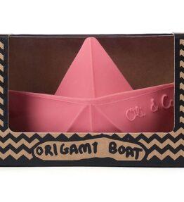 Bad speeltje boot roze - natuurlijk rubber