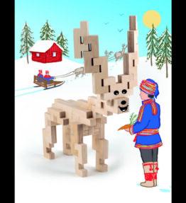 Creatieve set hout - rendier