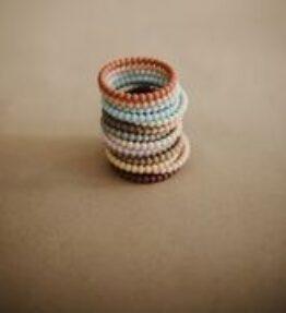 Mushie Bijtarmband Pearl Mellow/Terracotta/Periwinkle