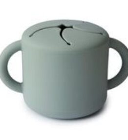 Mushie Snack Cup Siliconen - Cambridge Blue