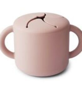 Mushie Snack Cup Siliconen - Blush
