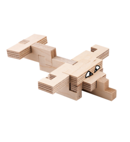 Creatieve set hout - vliegtuig