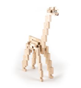 Creatieve set hout - giraffe
