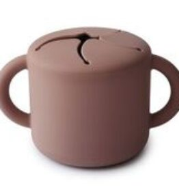 Mushie Snack Cup Siliconen - Cloudy Mauve