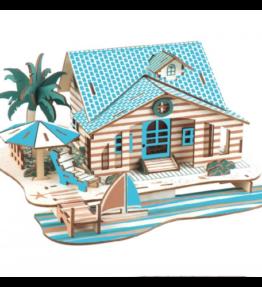 Houten bouwpakket Villa Bali - kleur