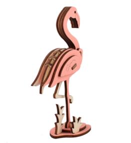 Bouwpakket hout dier - Flamingo (kleur)