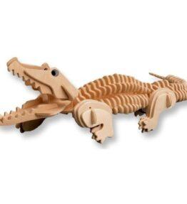 Bouwpakket hout dier - Krokodil