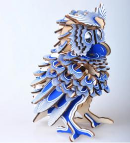 Bouwpakket hout dier - Uil (kleur)