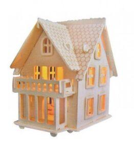 Houten bouwpakket Villa B- met verlichting