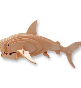 Bouwpakket hout dier - Witte Haai