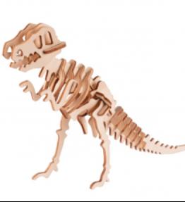 Bouwpakket hout dier - Tyrannosaurus (kleur-klein)